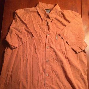 Columbia Men's Casual Short Sleeve XL Orange